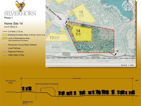 113 Silverhorn Ridge in Rural Rocky View County - Vacant Land For Sale : MLS# a1074294