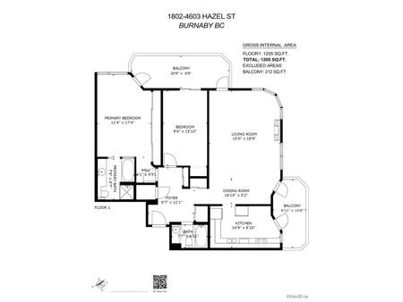 1802 4603 Hazel Street, Burnaby