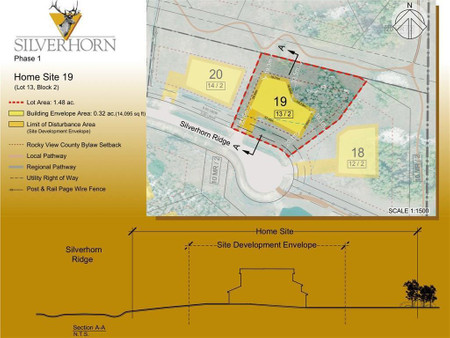 20 Silverhorn Ridge in Rural Rocky View County - Vacant Land For Sale : MLS# a1074293