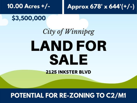 2125 Inkster Boulevard in Winnipeg - Vacant Land For Sale : MLS# 202027724