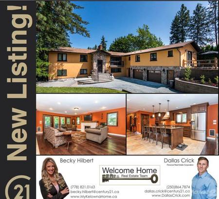 872 Paret Rd, Kelowna, British Columbia, V1W4P2