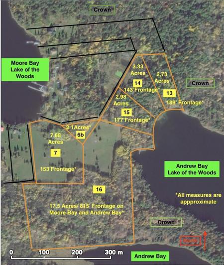 Lot 7 13 16 Pipestone Peninsula Moore Bay And Andrew Bay Pipestone Peninsula Lotw Moore Bay And Andrew Bay, Kenora, Kenora