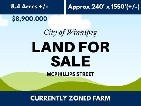 Mcphillips Street in Winnipeg - Vacant Land For Sale : MLS# 202102219